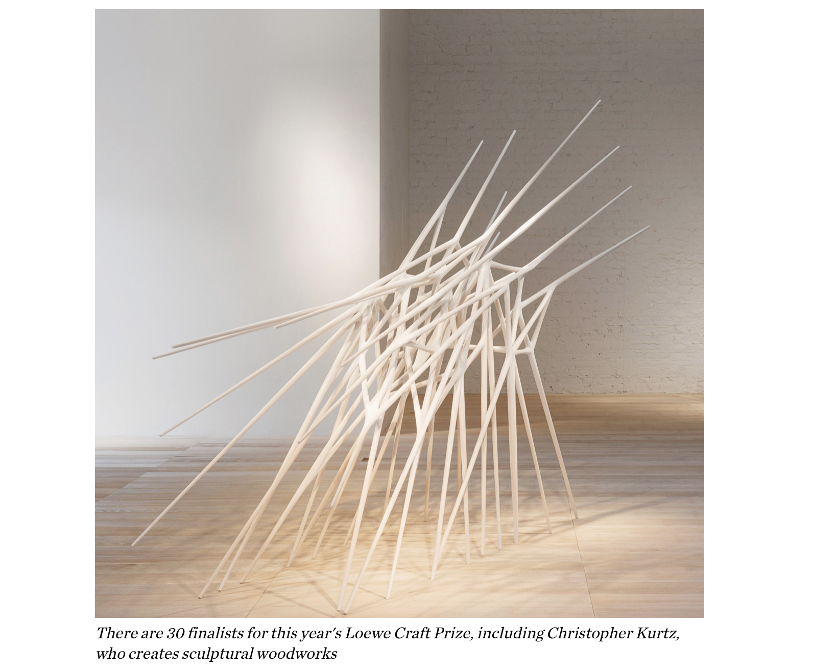 Christopher Kurtz's sculpture featured in Dezeen magazine