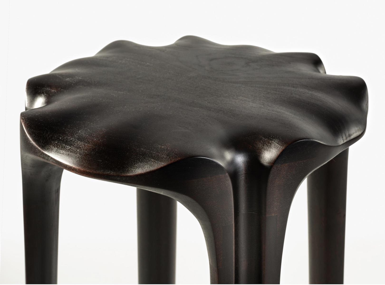 top detail of the Pavilion Stool by artist Christopher Kurtz