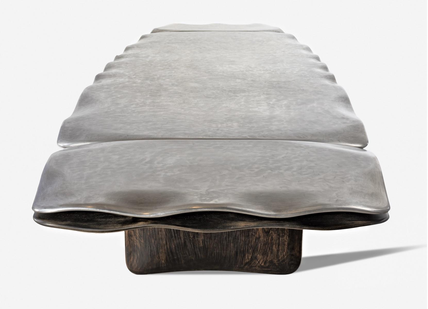 Top view of the Park Avenue Table by artist Christopher Kurtz