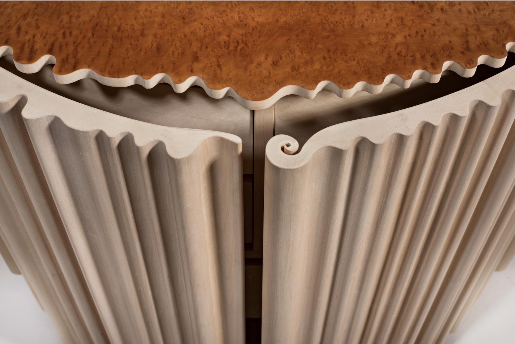 door detail of the Pearl Cabinet by artist Christopher Kurtz