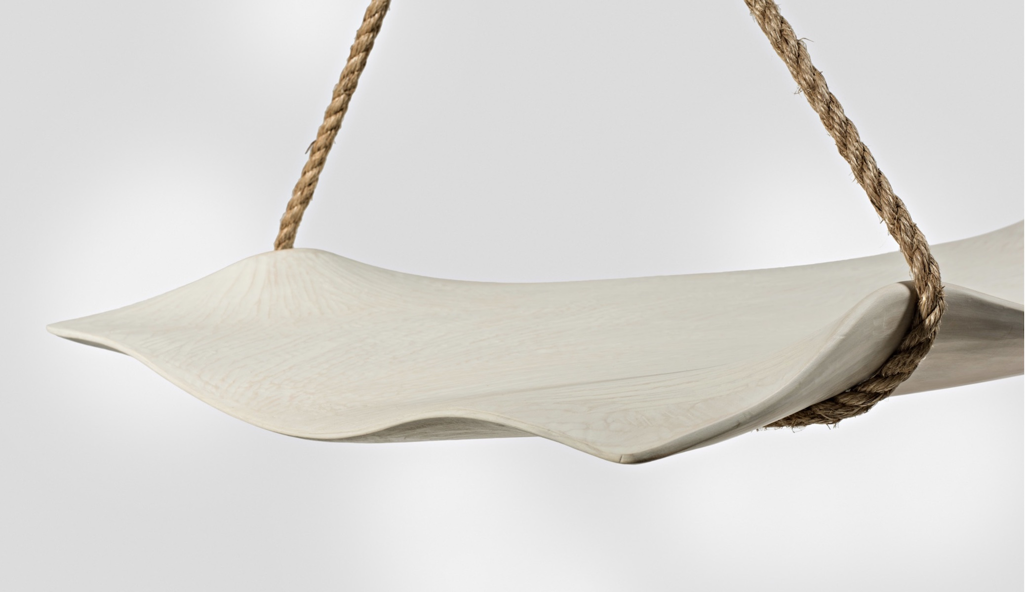 angled view of the Swing Seat by artist Christopher Kurtz