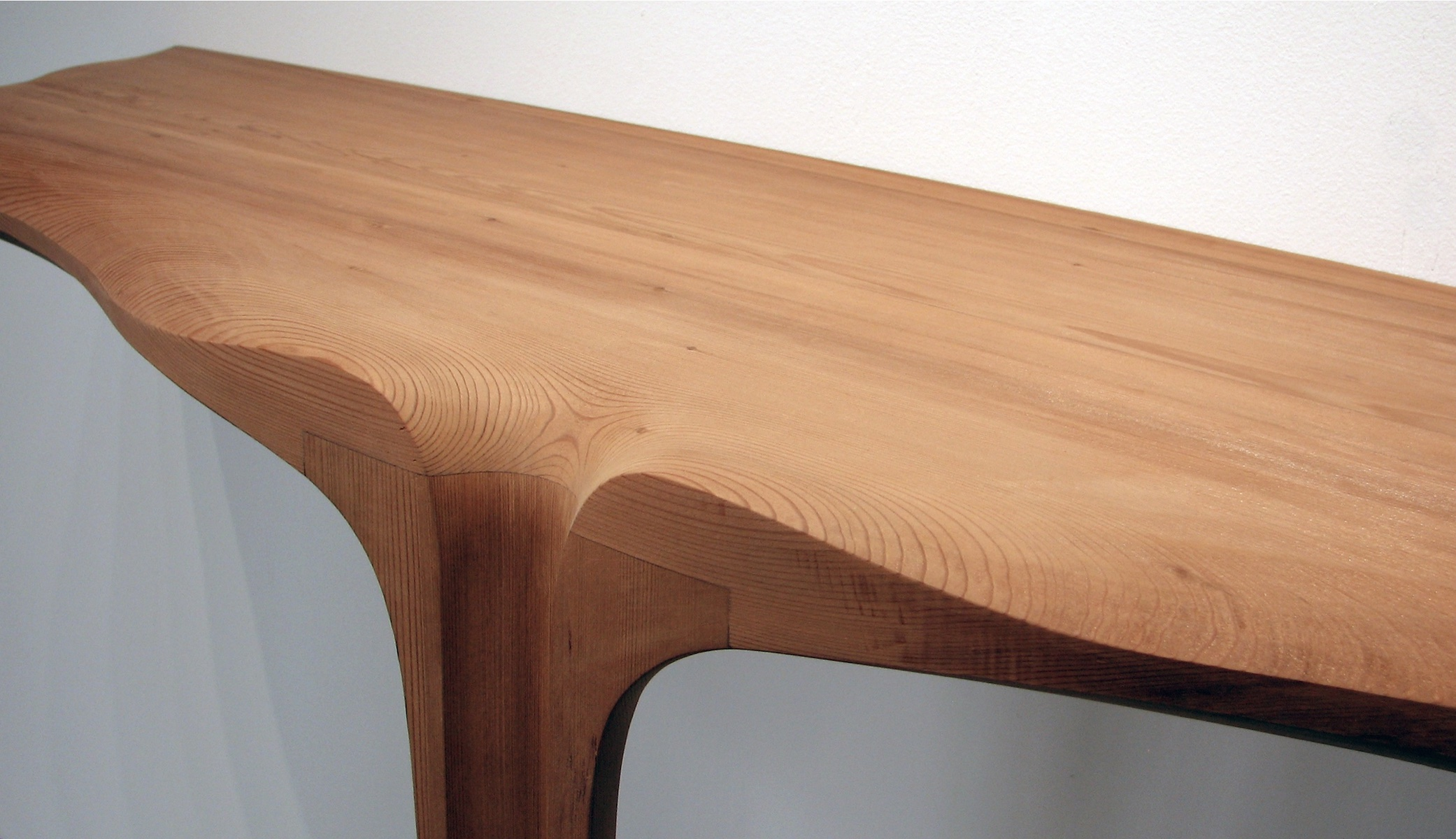 detail of the Gingko Console by artist Christopher Kurtz