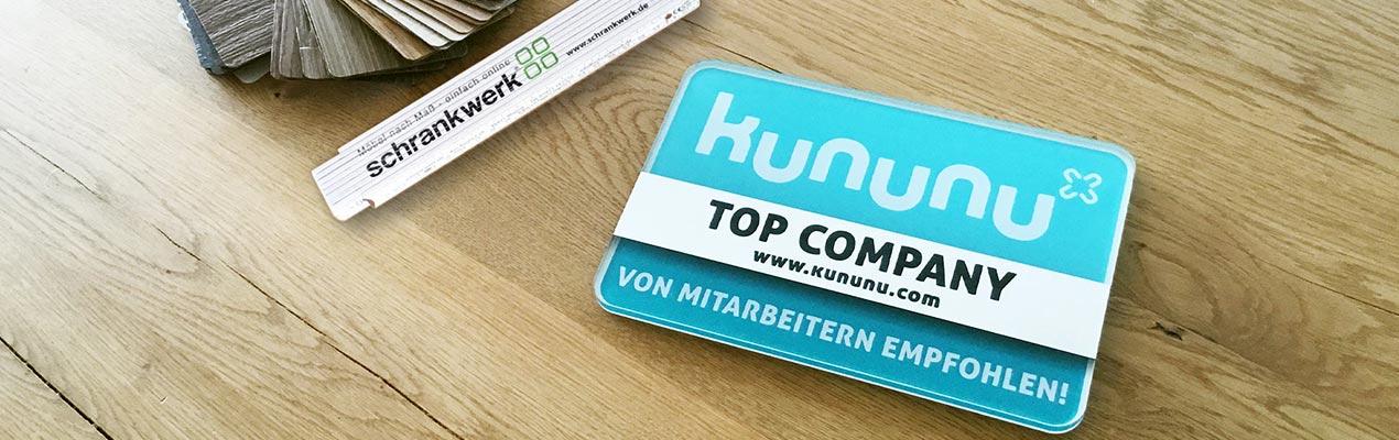 schrankwerk Auszeichnung top company
