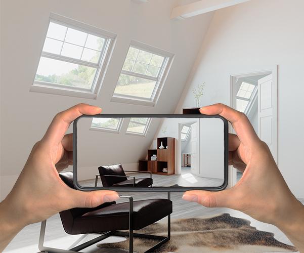 Foto mit dem Smartphone von einem Stufenregal