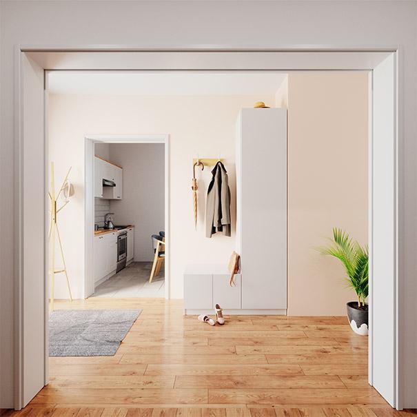 Garderobe mit Sitzgelegenheit bei schrankwerks Wohnwelten