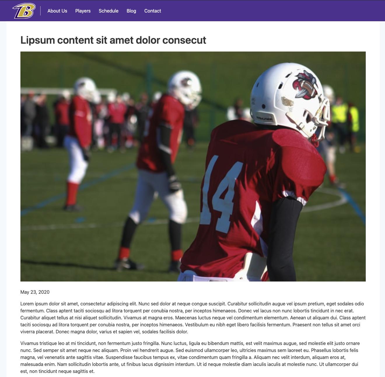 Lombardi Starter: Example blog post