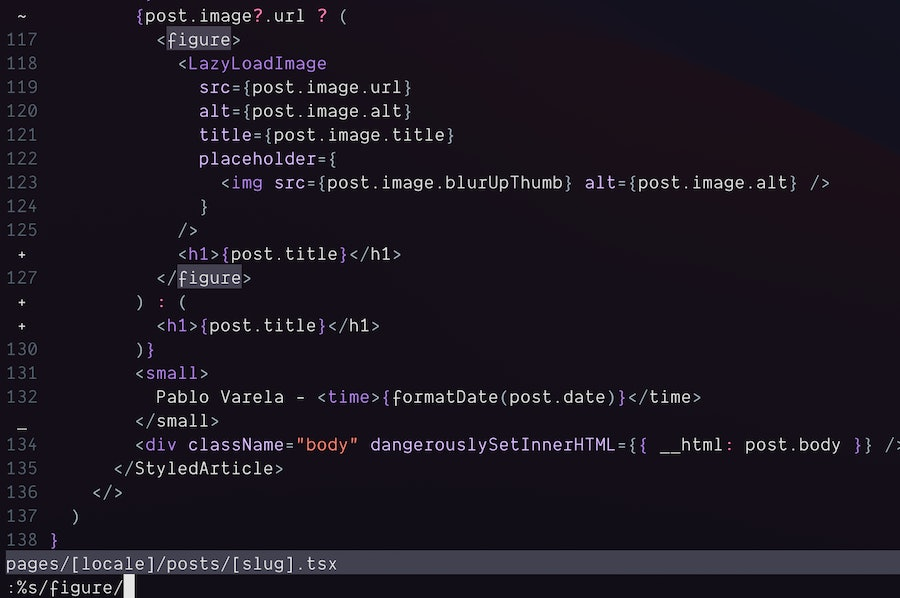 How to replace text in vim only inside a specific search