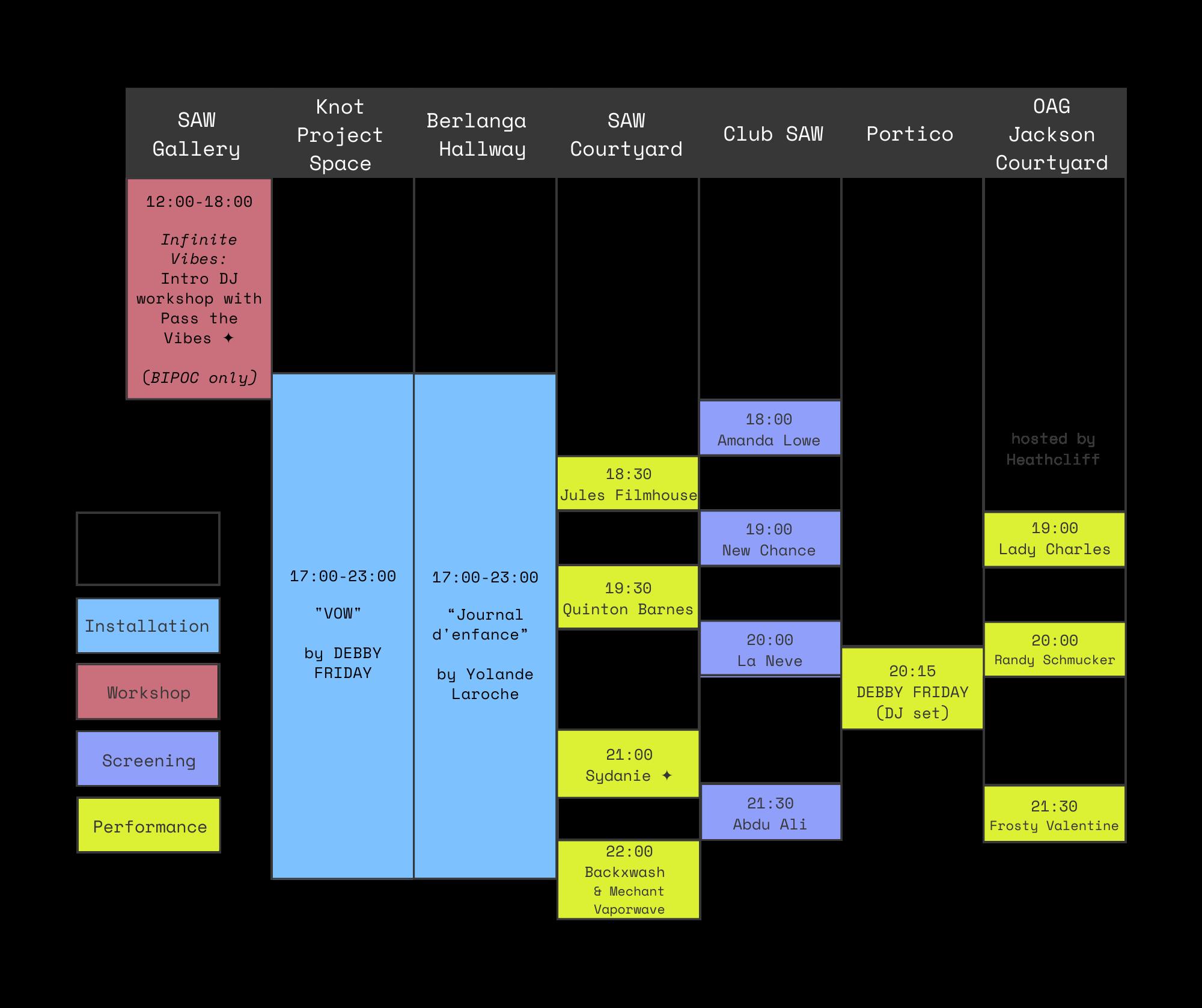 Pique schedule grid-version