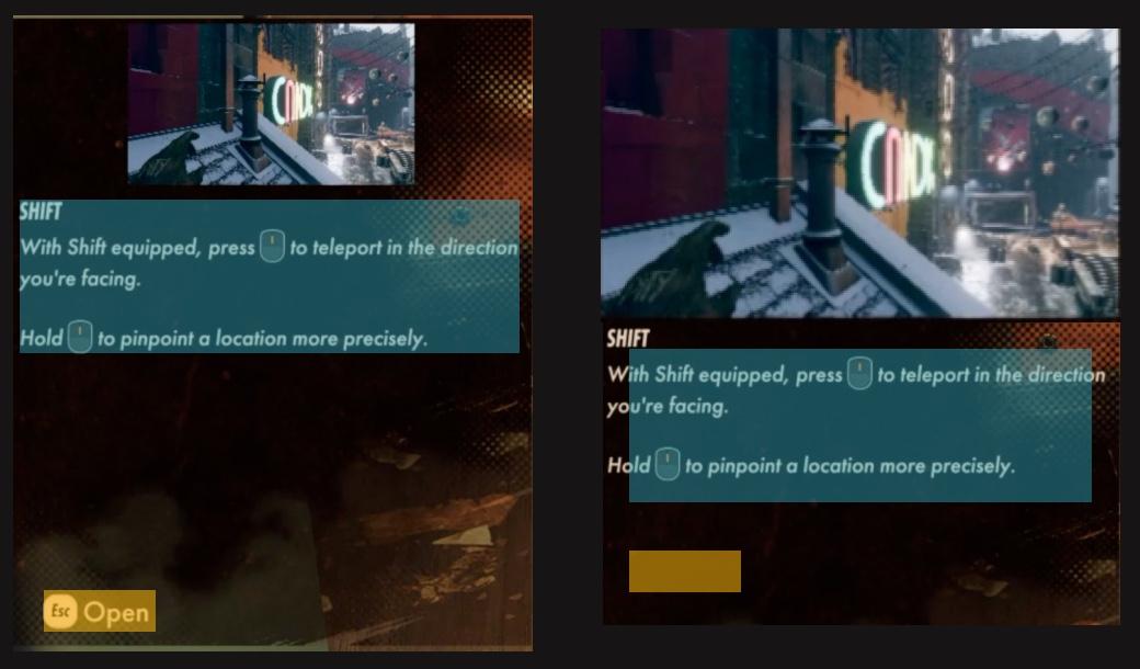 Deathloop UI UX whitespace