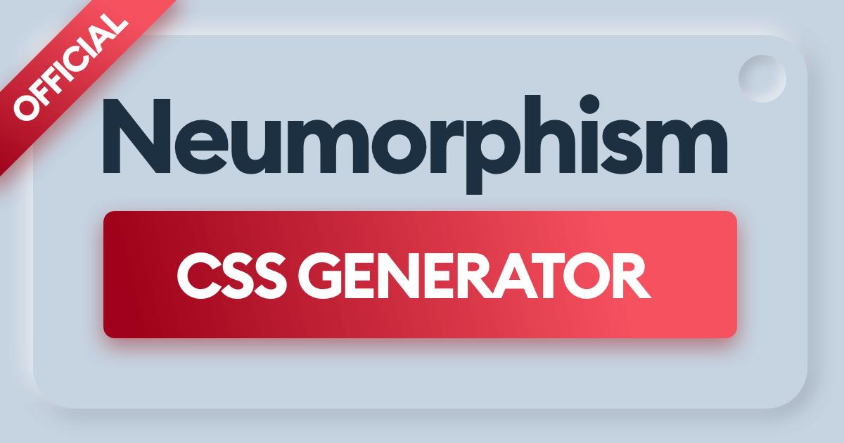 Neumorphism generator