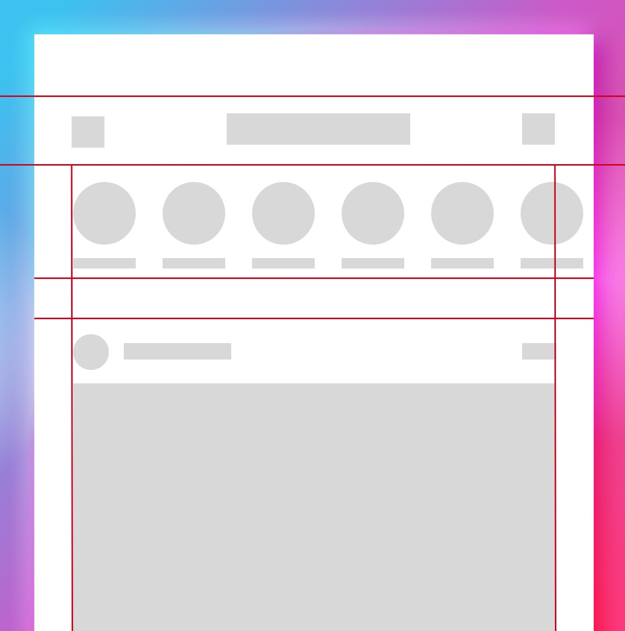 blockframe the content of your app
