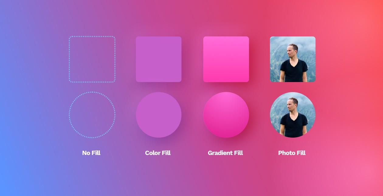 UI design shapes & objects basics