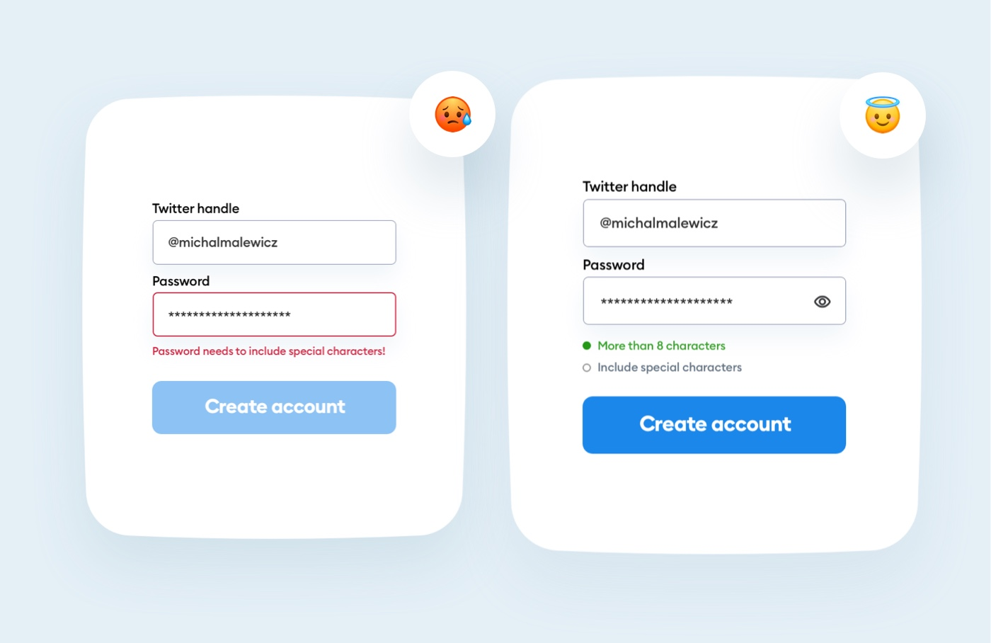 Required password charaters