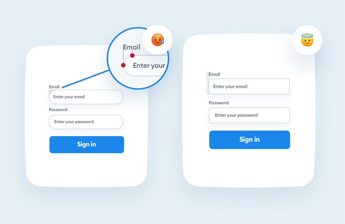 Rounded form fields