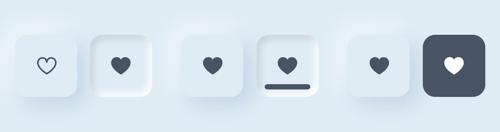 better way for neumorphism buttons