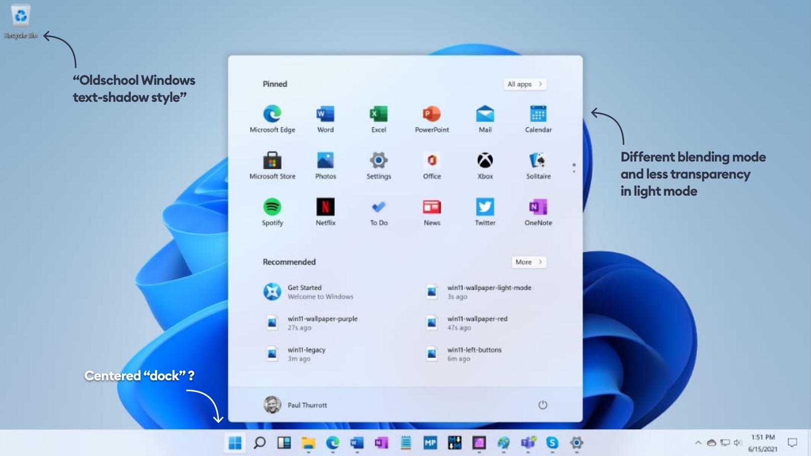 Windows 11 glassmorphism