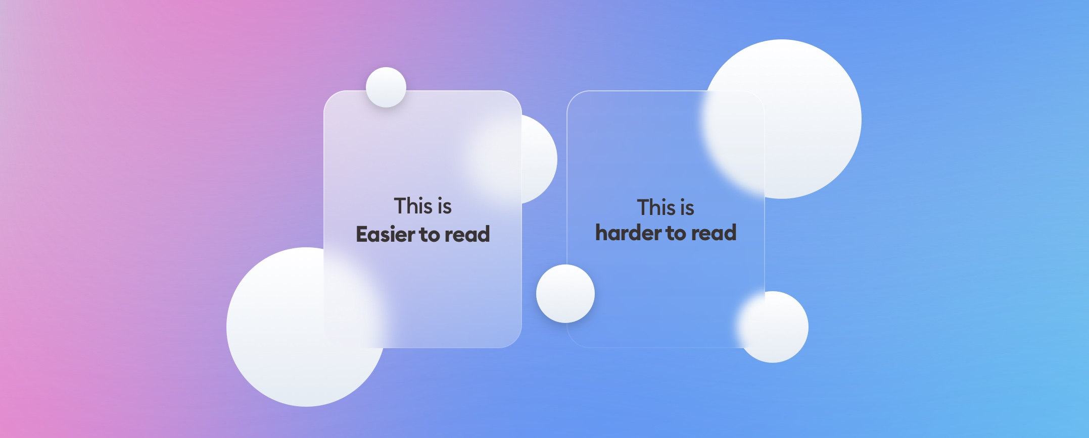 Glassmorphism and accessibility