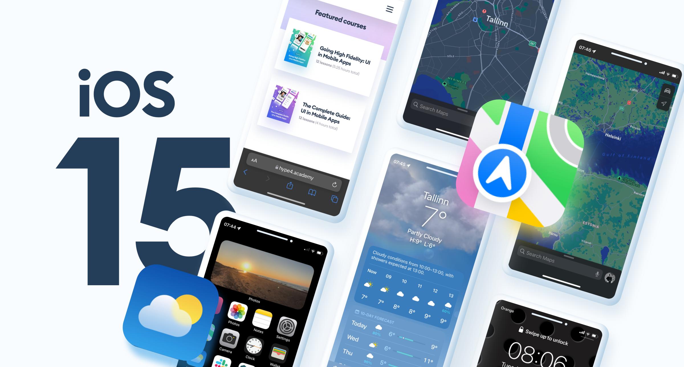 iOS 15 UI Design changes