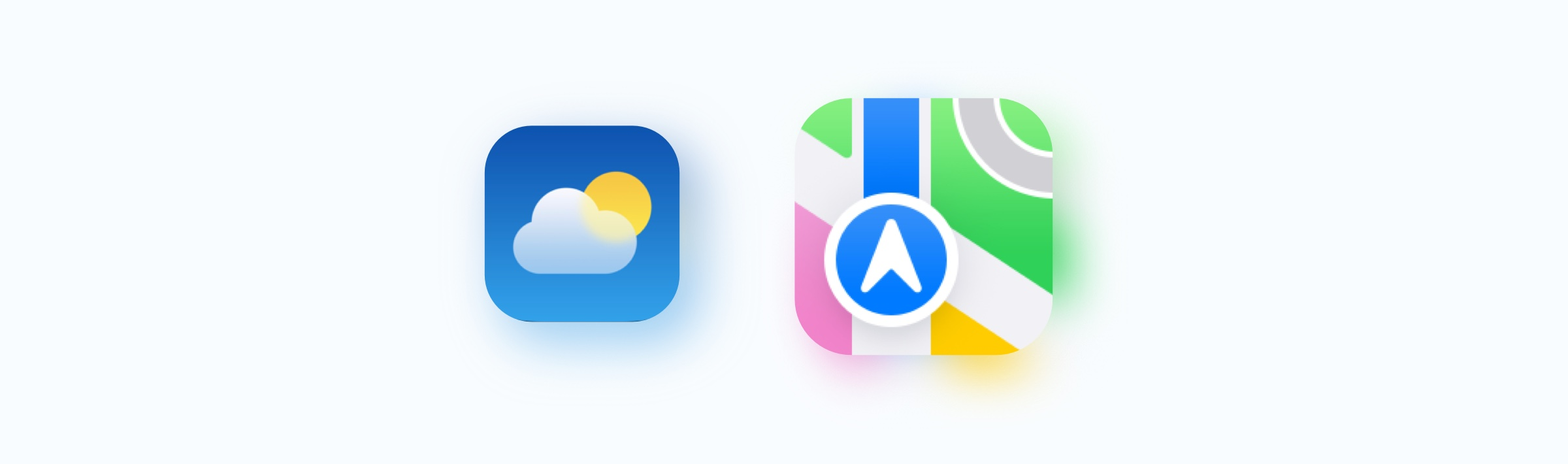 iOS 15 weather and maps icons