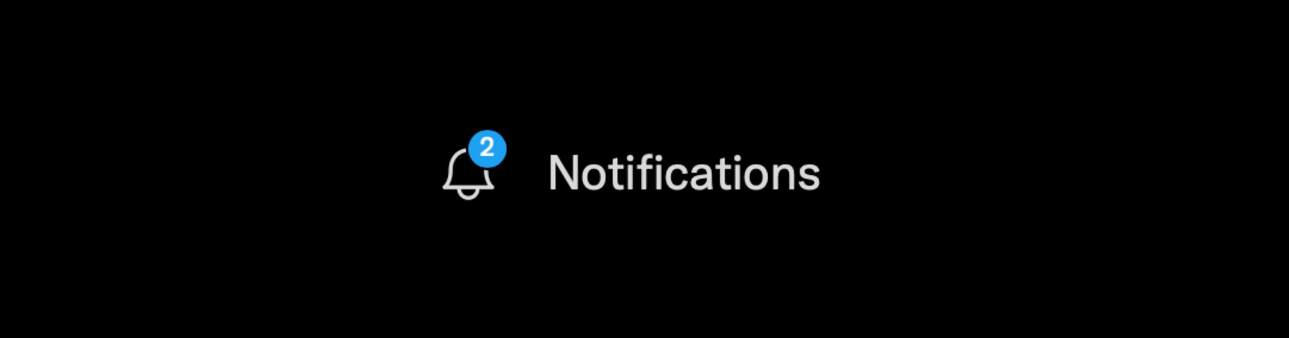 Twitter notifications badge