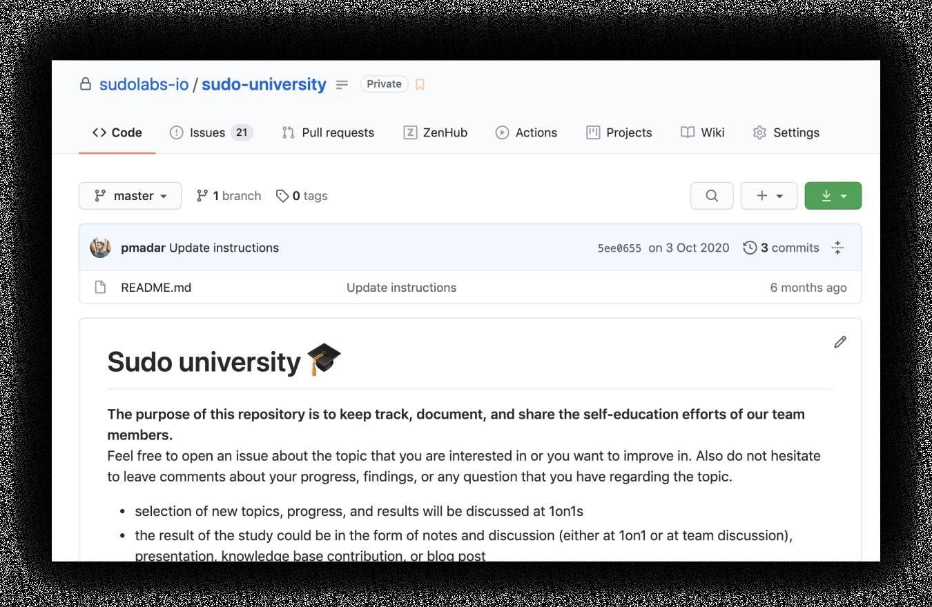 sudo university repository