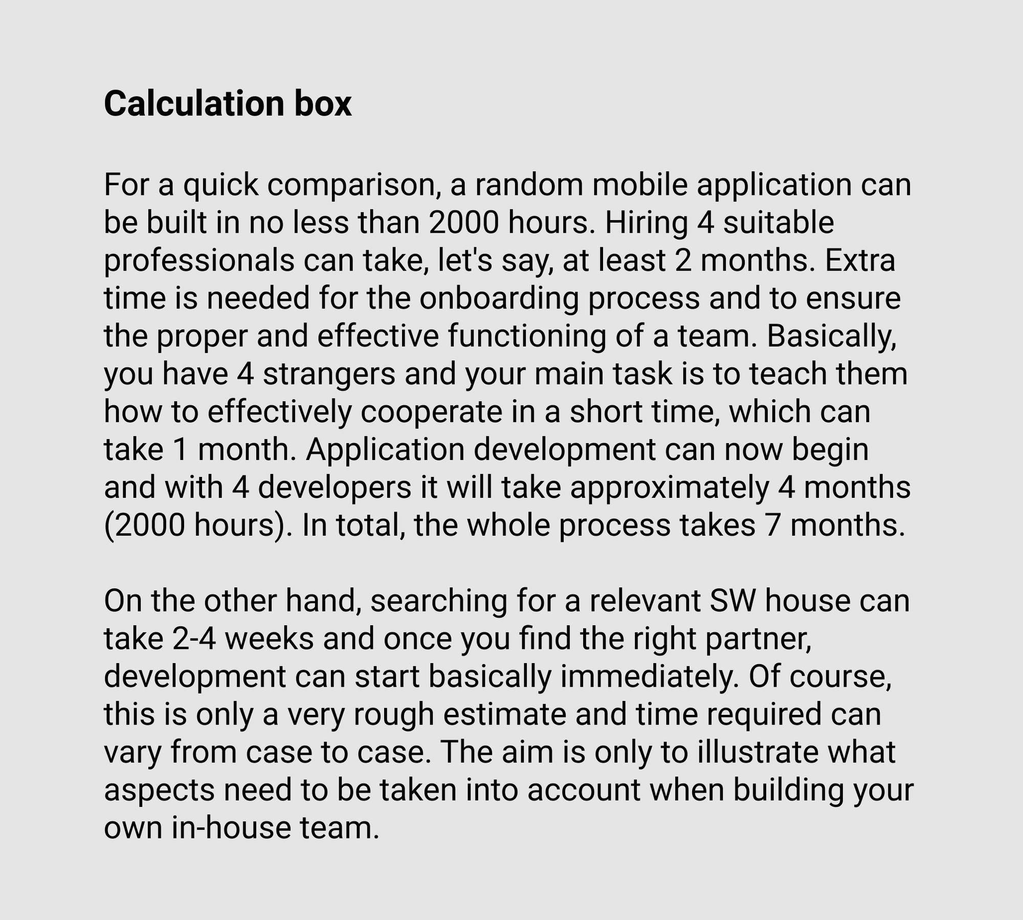Calculation box