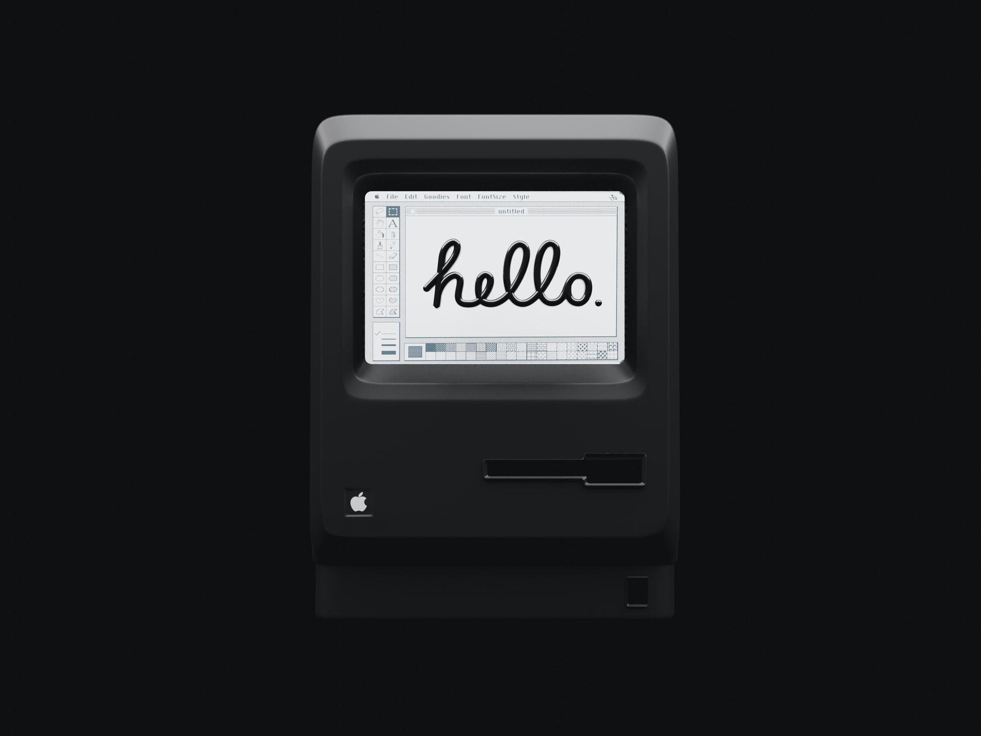 Computer saying hello