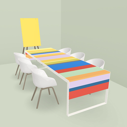 hay aac22 chair with fantoni stripes table chair aac22 coral