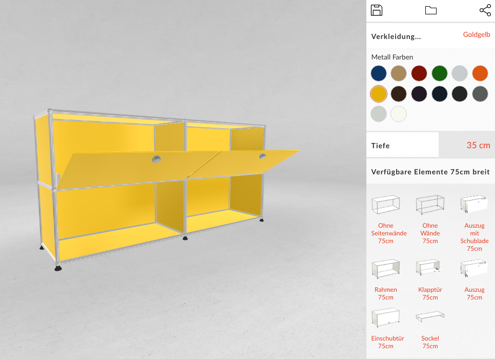 Try USM Haller products live in 3D & AR/VR for free