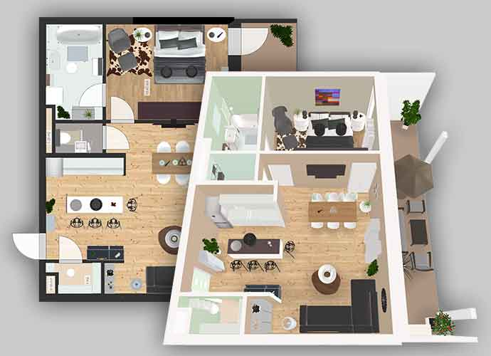 The Roomle 2d 3d Floor Planning Functionality Lets You Build Design And Furnish Rooms And Make It Available Across Multiple Destinations Without Any