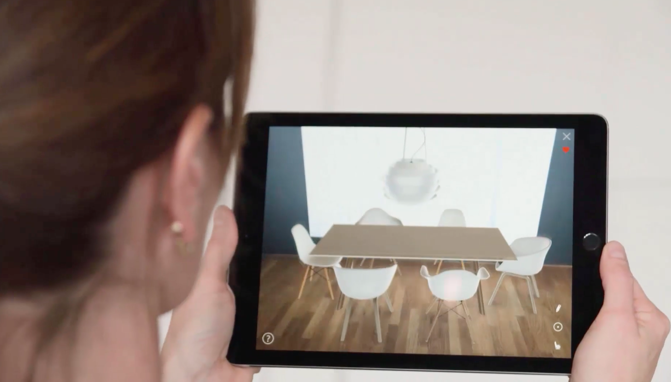 Augmented Reality product visualization with roomle
