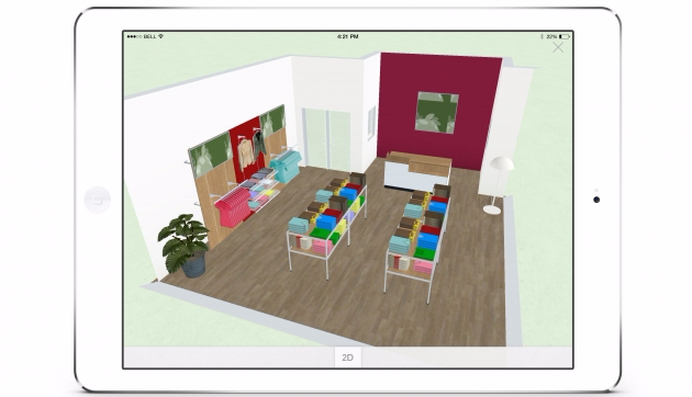 3D POS shop and space planning
