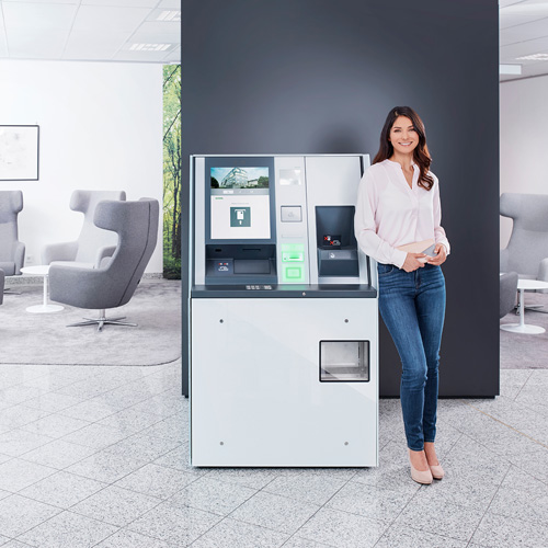 KePlus FX10 with coin deposit in branch environment