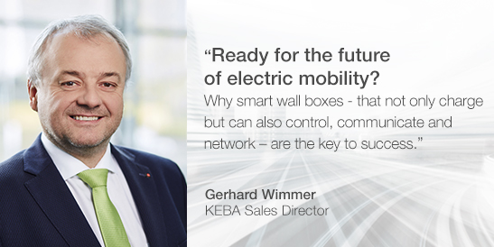"Gerhard Wimmer, KEBA Sales Director, will provide unique insights into the dynamic electromobility market at ""vie-mobility 2019"" and the ""Photovoltaik für Gebäude"" (Photovoltaics for Buildings) conference. Be there and hear him in person. For more information on the events: LINK"