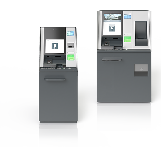 Cash-Recyclers KePlus R10 und KePlus FX10 of the evo series, frontal