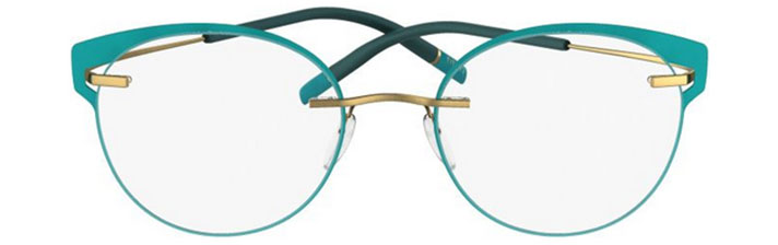 TMA Icon Accent Rings FV in 5540 Brass light teal