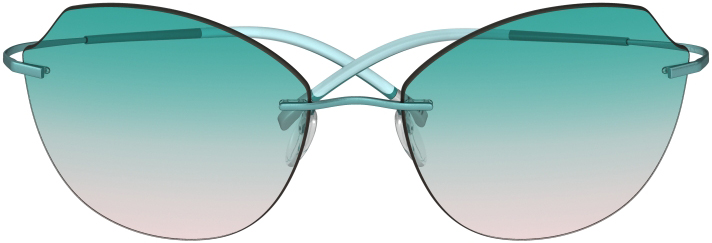 Titan Minimal Art - The Icon 8158 in Teal Rose
