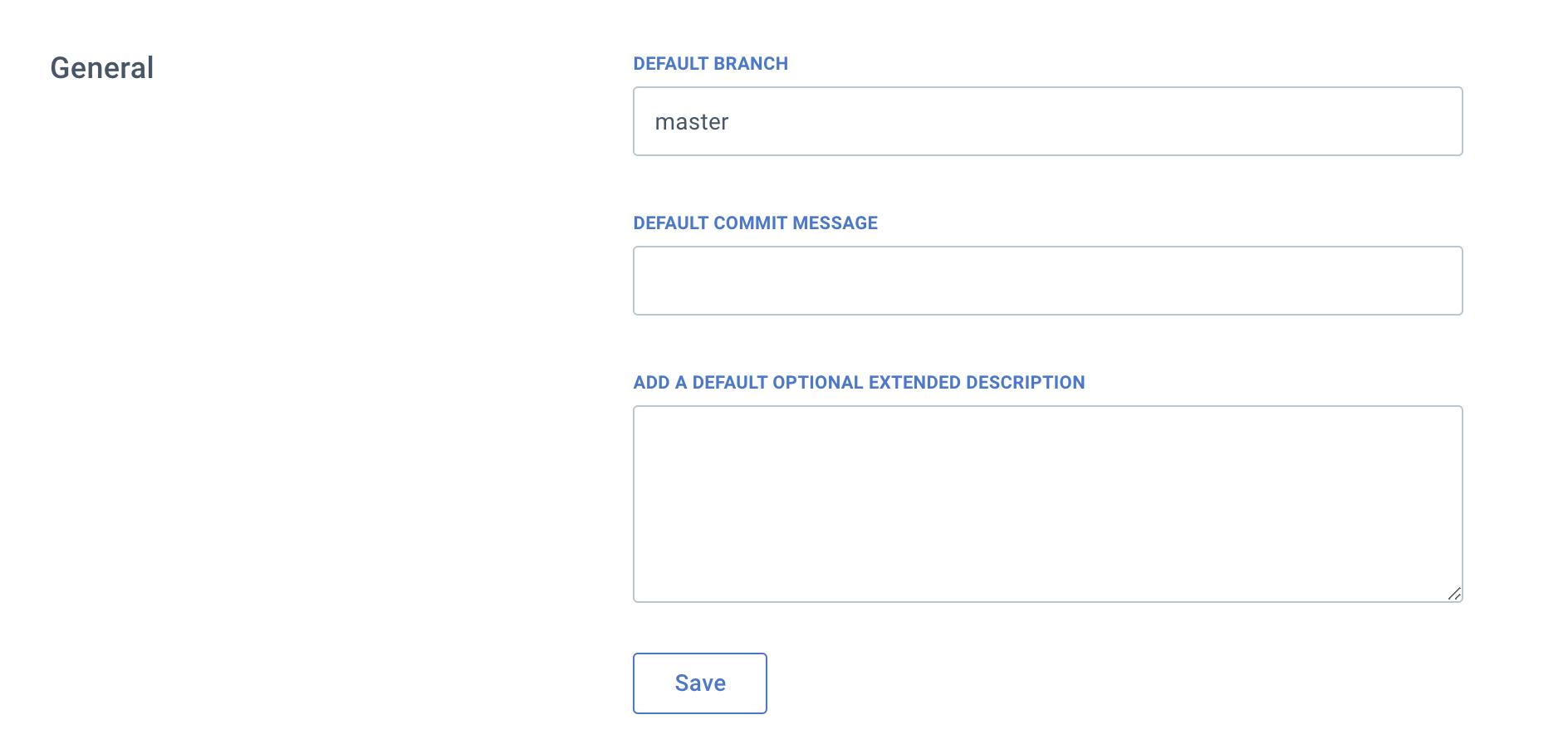 GitHub settings - defaults