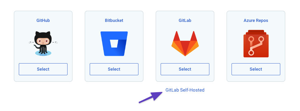 Select GitLAb self-hosted