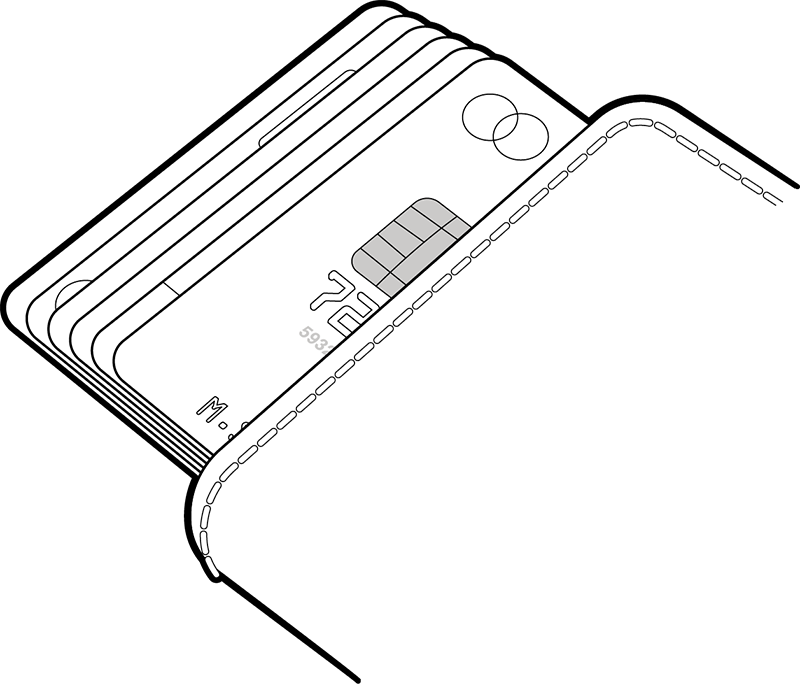 The Cardprotector can hold six cards, including one with embossing.