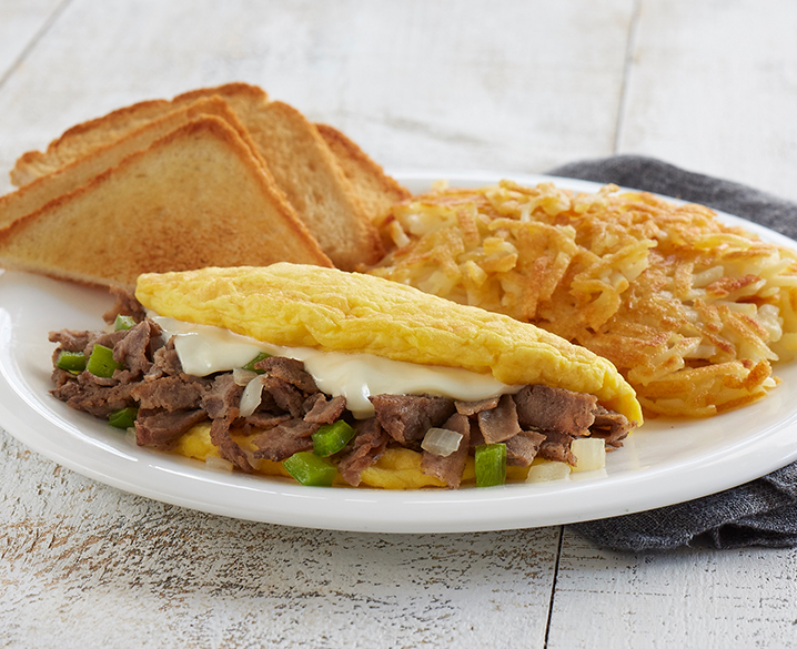 Philly Cheesesteak Omelet