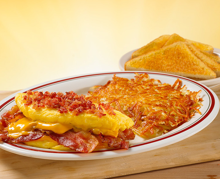 Mega Bacon & Cheese Omelet