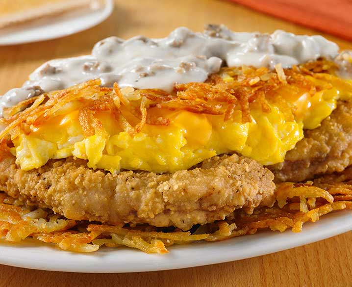 Country Fried Steak Stuffed Hashbrowns