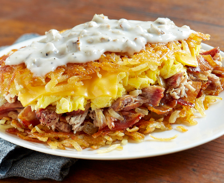 Pit Smoked Pulled Pork Hashbrowns