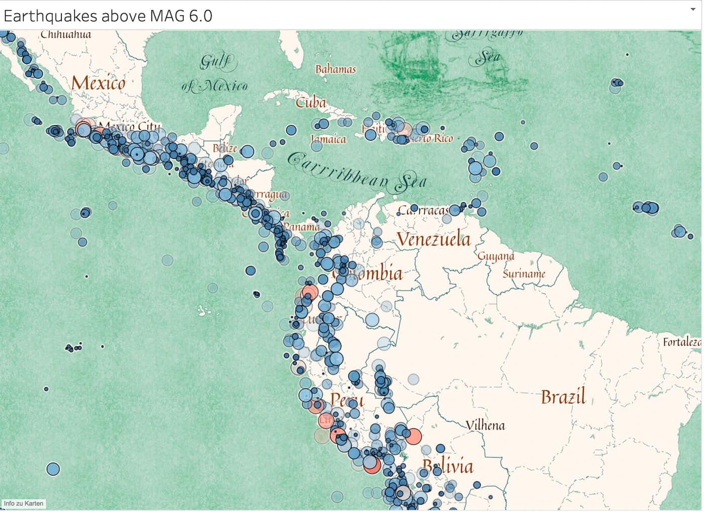 Integrierte Mapbox Tableau Visualisierung