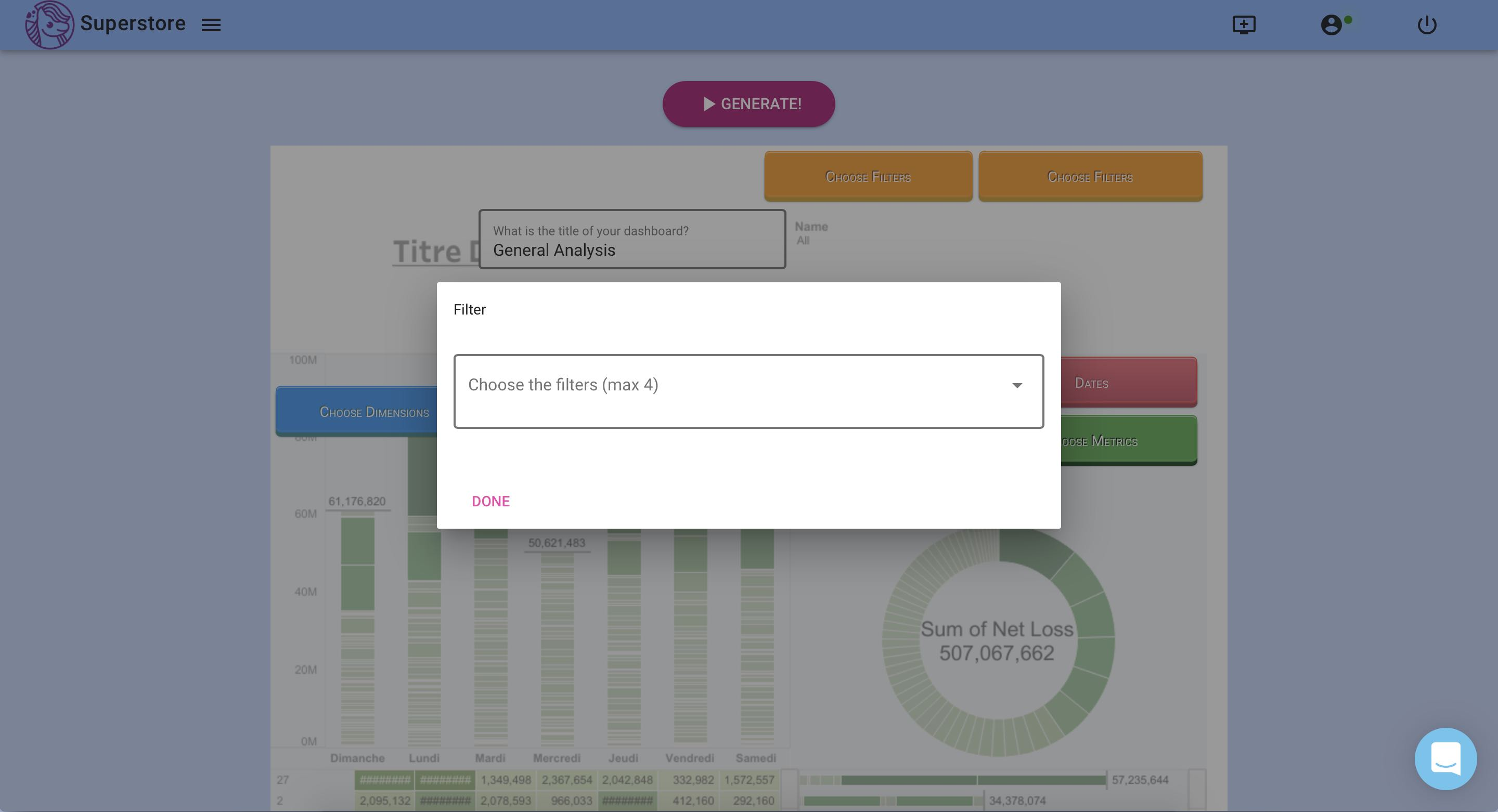 Adding filters to our dashboard
