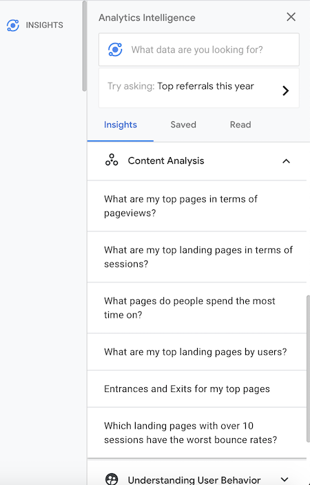 Using Google Analytics insights to individualize your dashboard