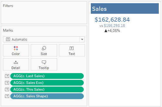 Card view for Metric in Tableau