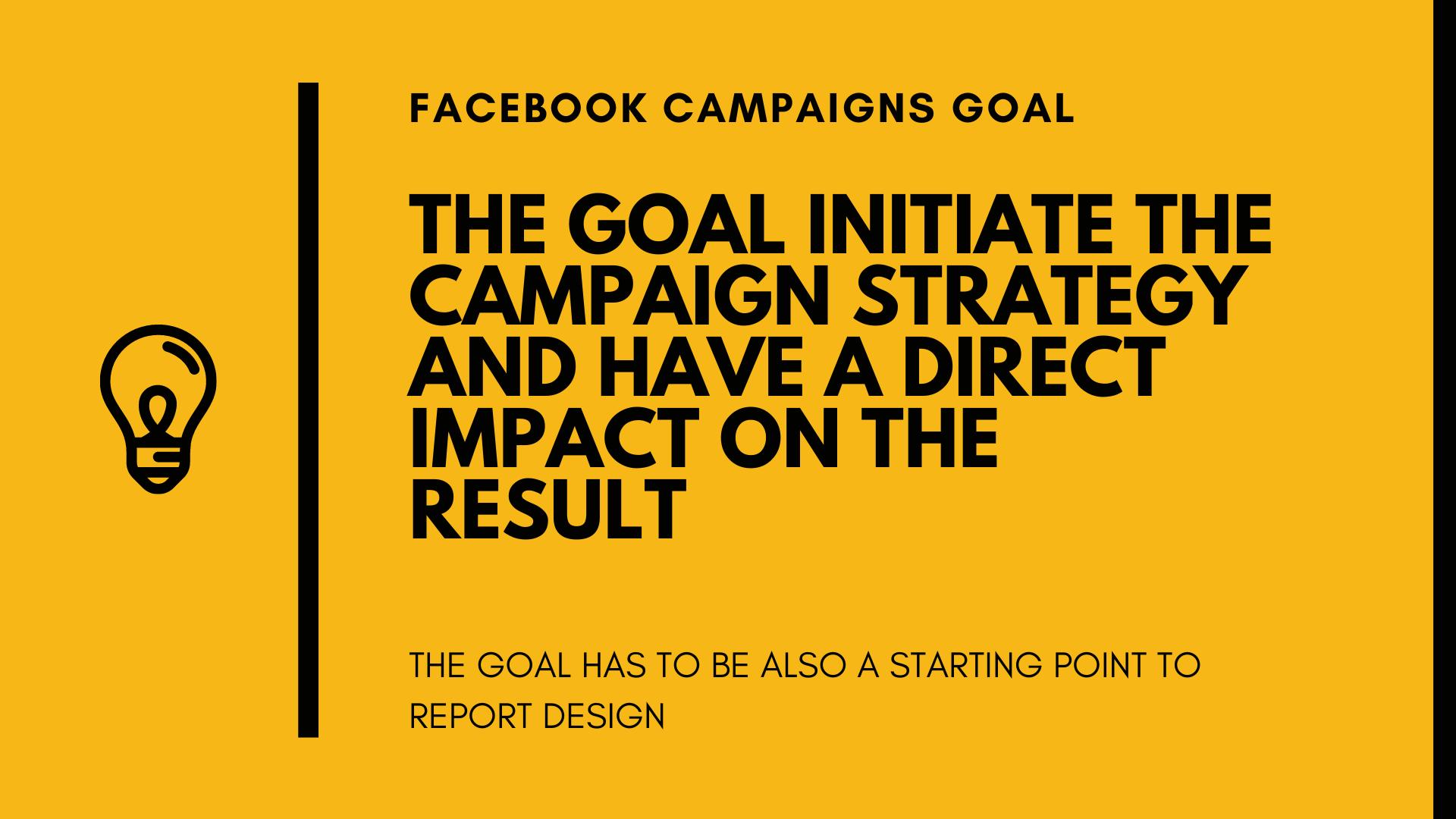 Facebook campaigns goals