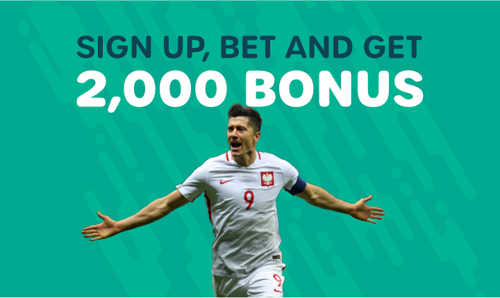 First Bet Bonus of 2,000 for new users